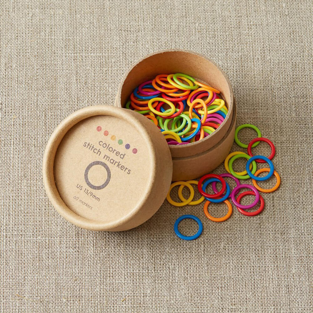 Cocoknits - Large Coloured Ring Stitch Markers | Yarn Worx
