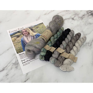Cooma Cowl Kit - LD Knits - Emma's Yarn Mohair & Sock Yarn with Pattern KNIT VERSION After Party Iguana | Yarn Worx