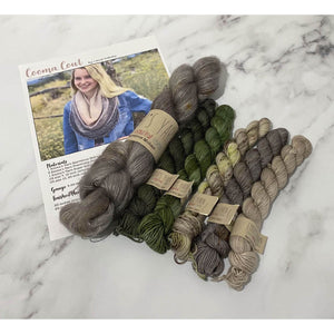 Cooma Cowl Kit - LD Knits - Emma's Yarn Mohair & Sock Yarn with Pattern KNIT VERSION Nailed It Kale | Yarn Worx