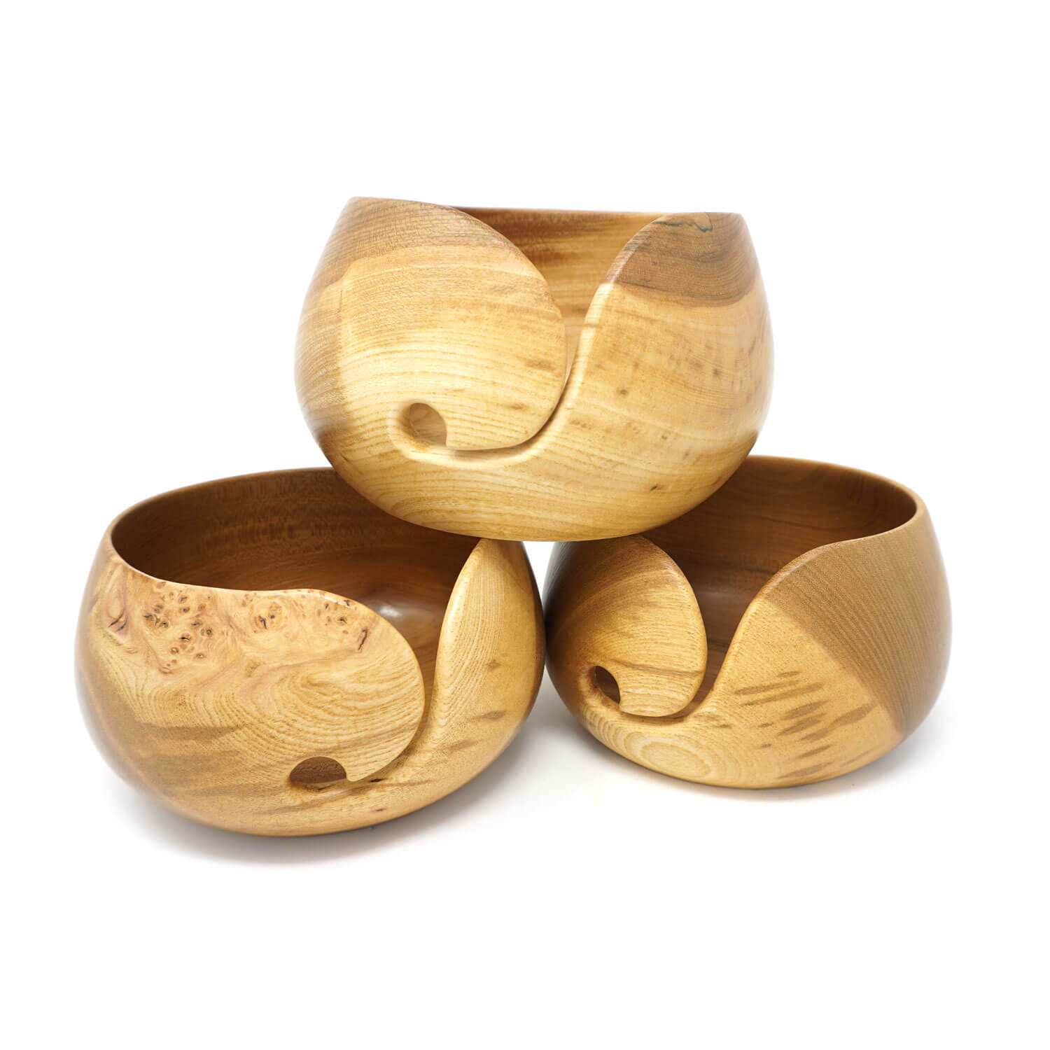 Elm Wood Yarn Bowl | Yarn Worx