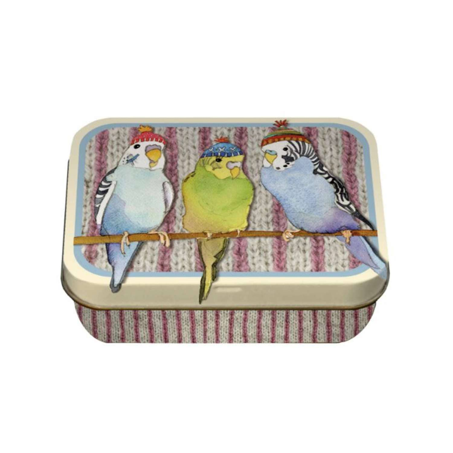 Emma Ball - Budgies in Beanies Tin | Yarn Worx