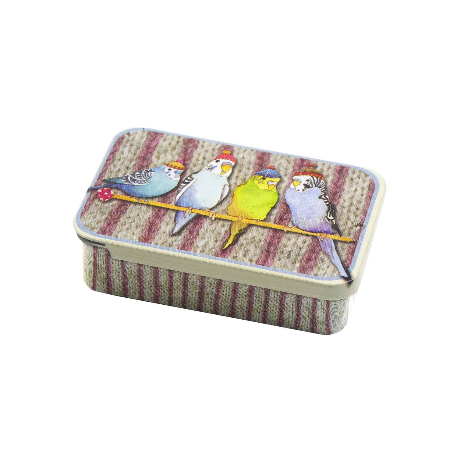 Emma Ball - Budgies in Beanies Mini Notions Tin | Yarn Worx
