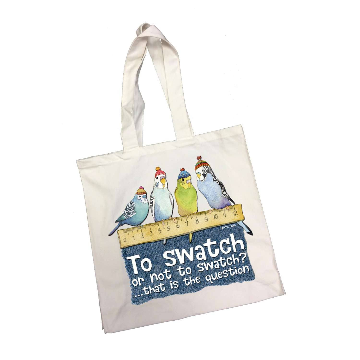 Emma Ball - To Swatch or Not to Swatch - Cotton Canvas Bag | Yarn Worx