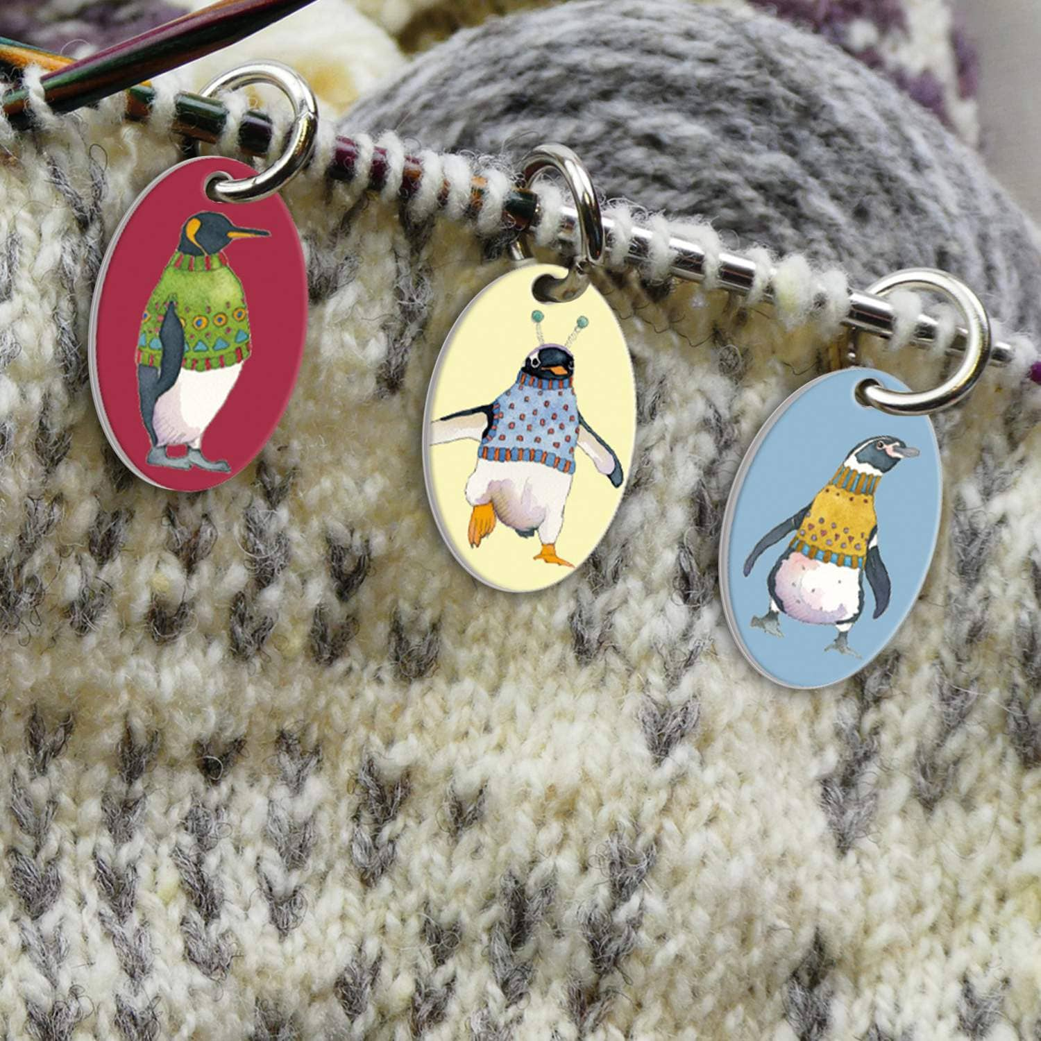 Emma Ball - 6 x Penguins in Pullovers Stitch Markers | Yarn Worx