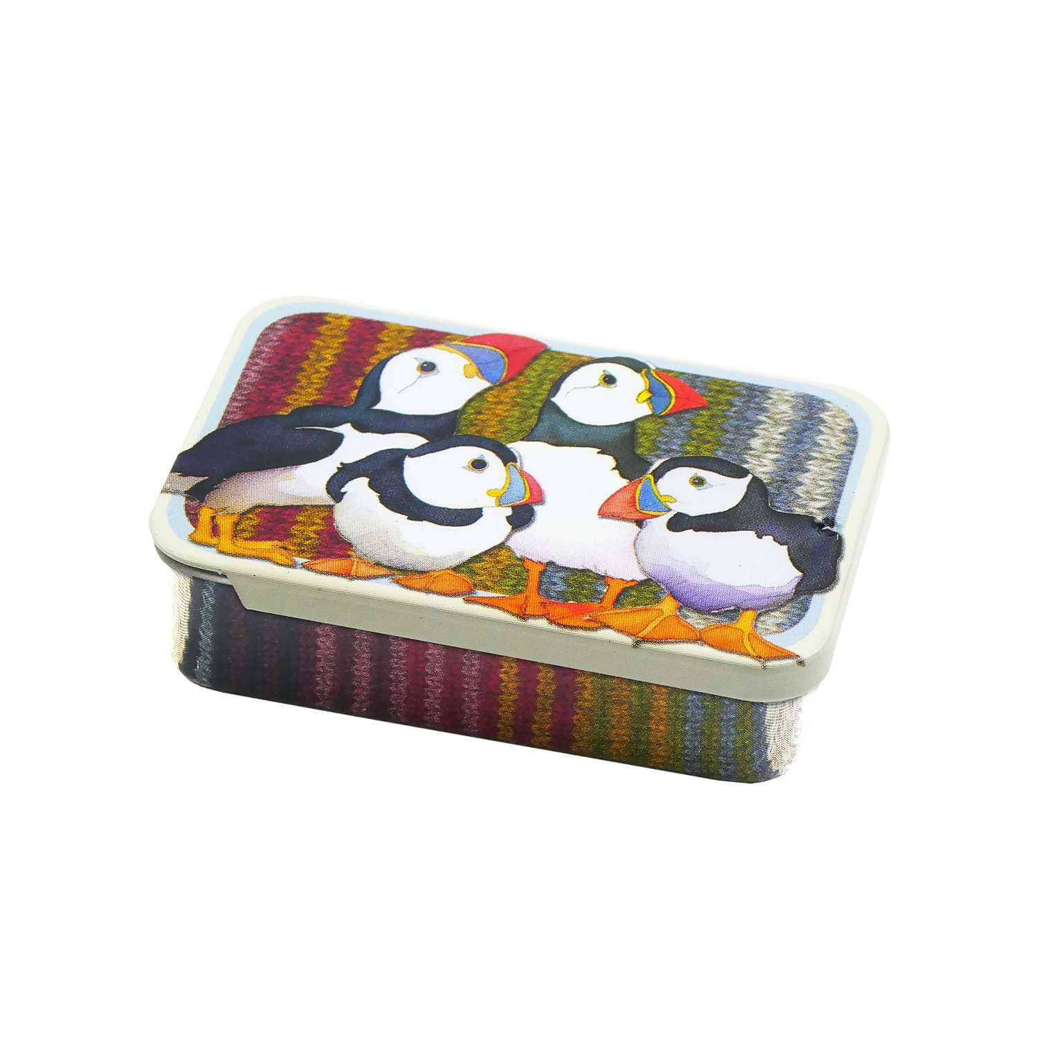 Emma Ball - Puffins Mini Notions Tin | Yarn Worx