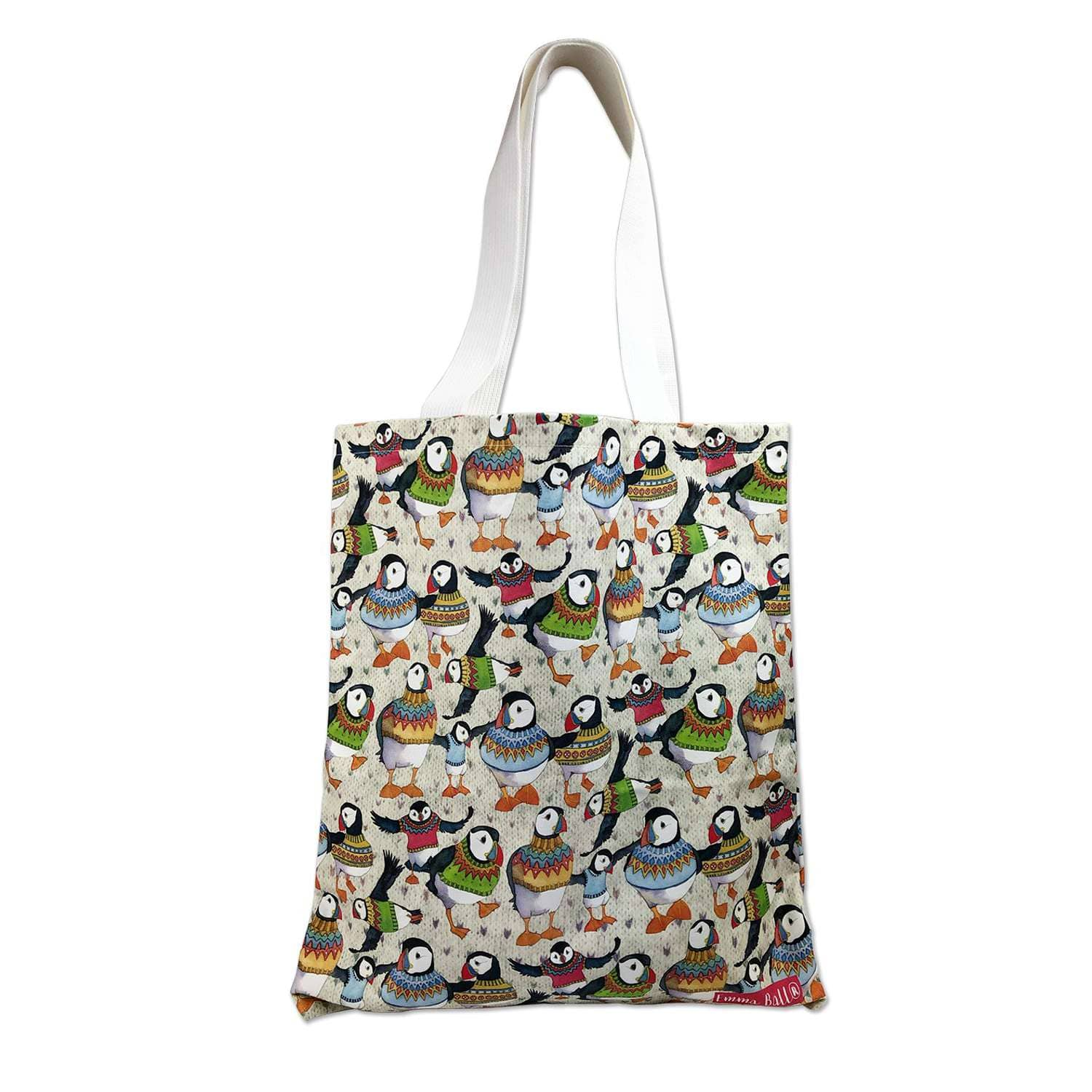 Emma Ball - Woolly Puffin Tote Bag | Yarn Worx