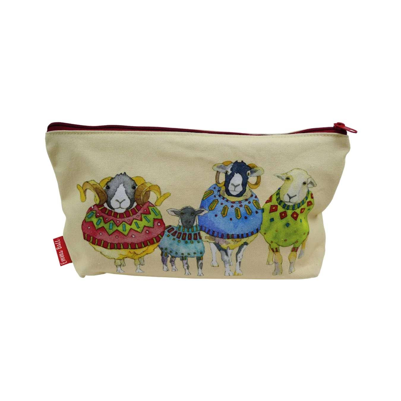 Emma Ball - Sheep in Sweaters Zipped Pouch | Yarn Worx