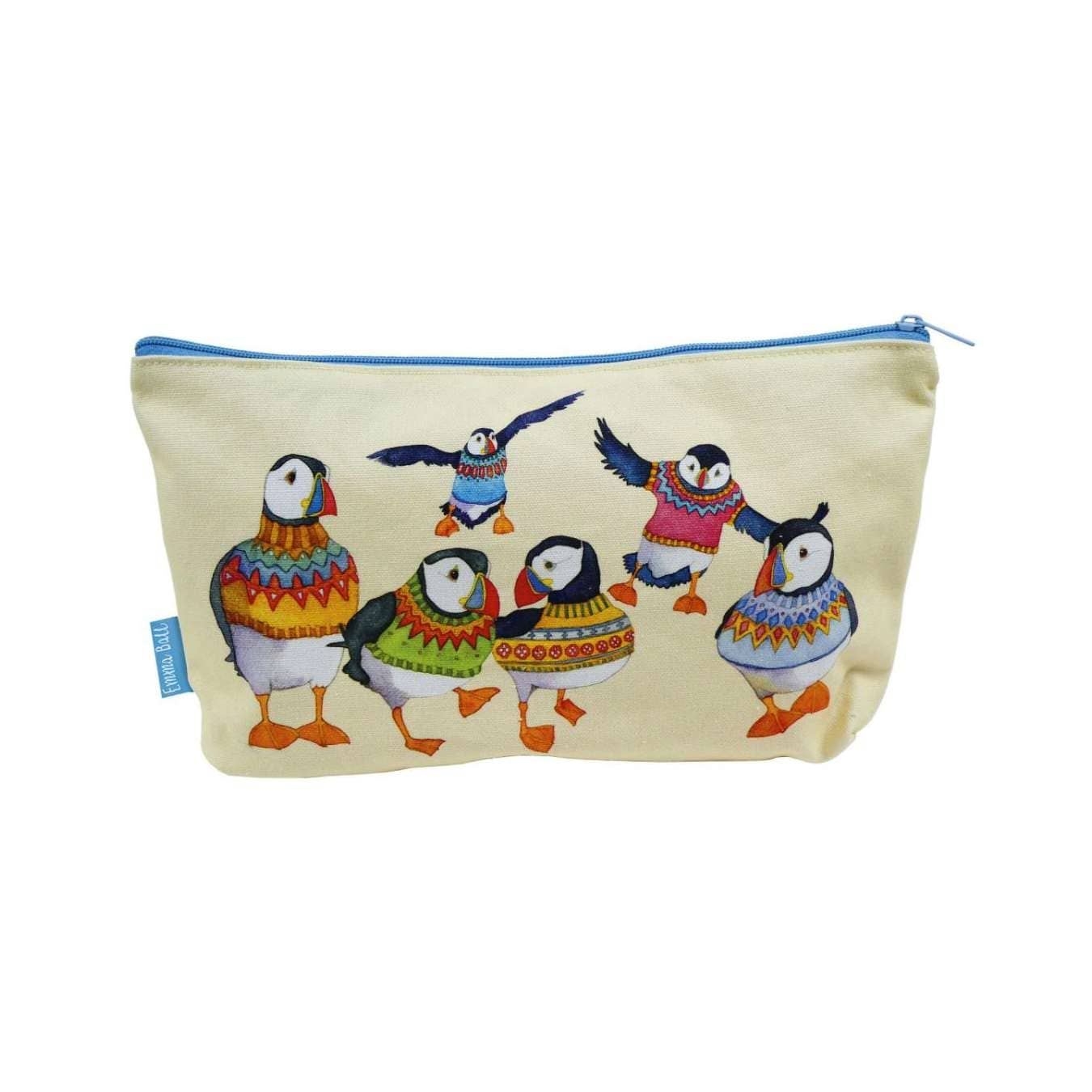 Emma Ball - Woolly Puffins Zipped Pouch | Yarn Worx