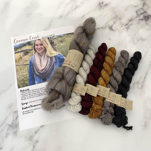 Cooma Cowl Kit - LD Knits - Emma's Yarn Mohair & Sock Yarn with Pattern KNIT VERSION Nailed It Cherry Merlot  | Yarn Worx