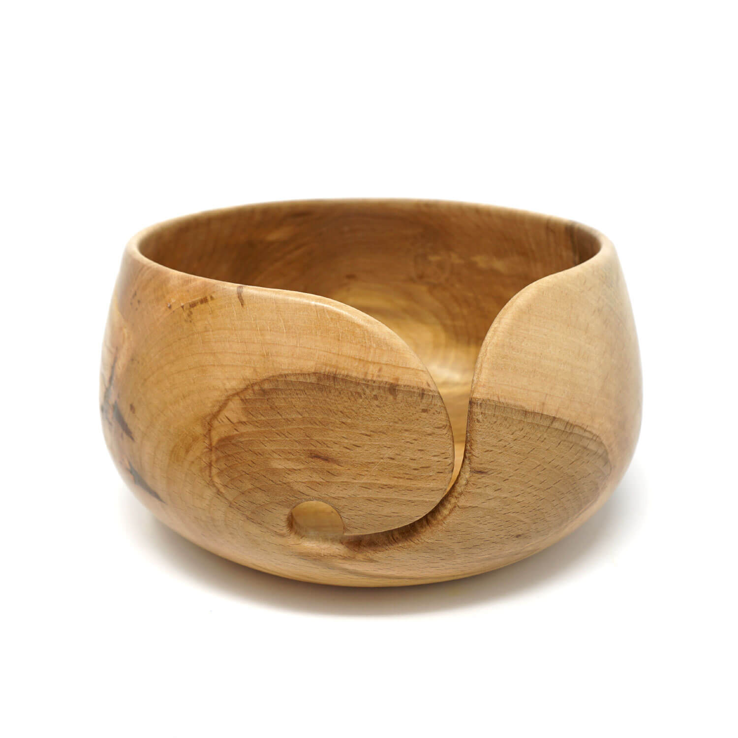 Flame Spalted Beech Wood Yarn Bowl - Large | Yarn Worx