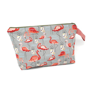 Sew Ray Me Flamingos Zipped Project Bag shown closed