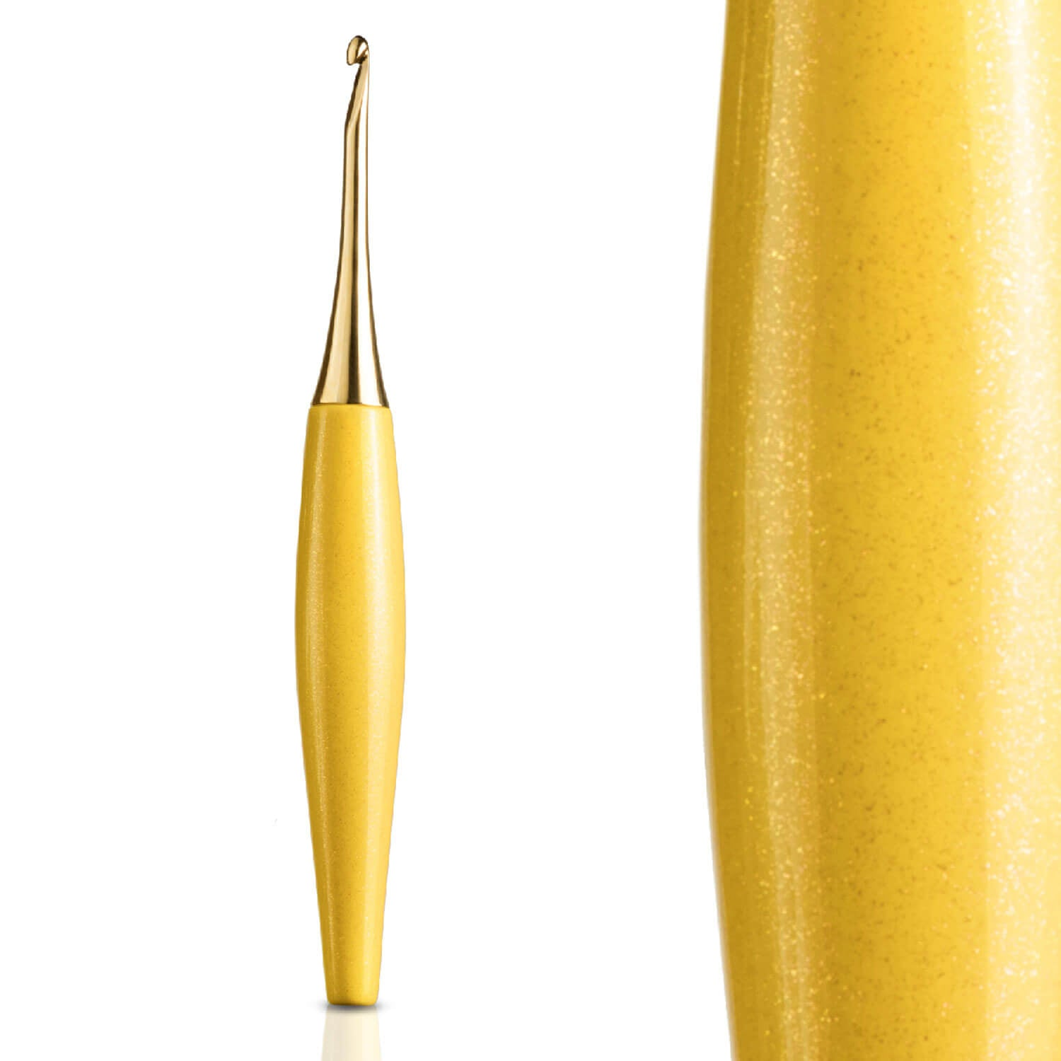 Furls Odyssey Crochet Hook - Yellow / Gold - Various Sizes | Yarn Worx