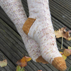 Gilded Socks - Debbie Ford - @daisystitches  - Emma's Practically Perfect Sock | Yarn Worx