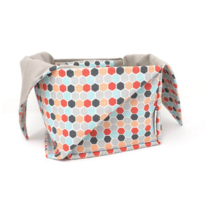 Heather Project Bag - Hexagons shown made into a yarn bowl | Yarn Worx