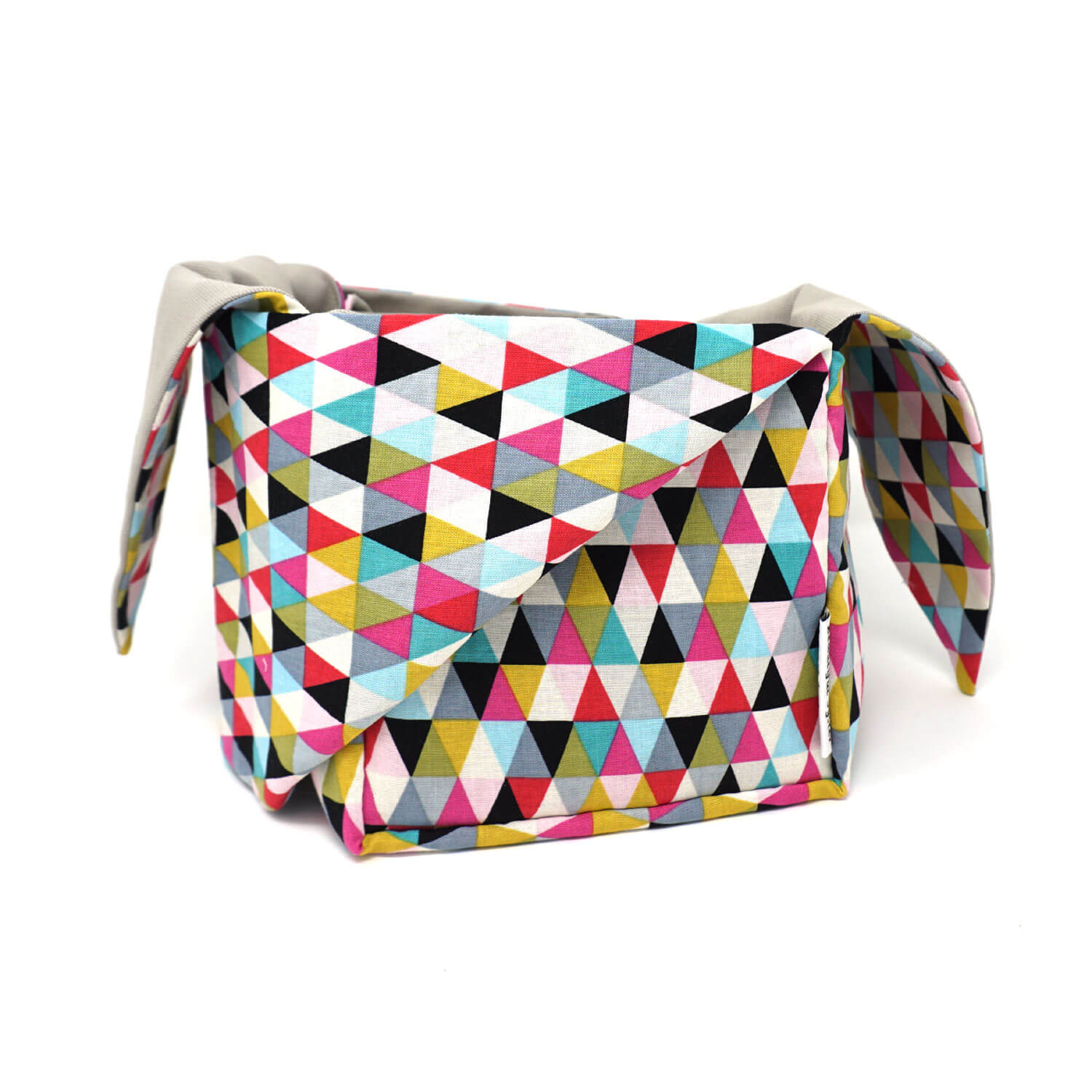 Heather Project Bag - Triangles shown open | Yarn Worx
