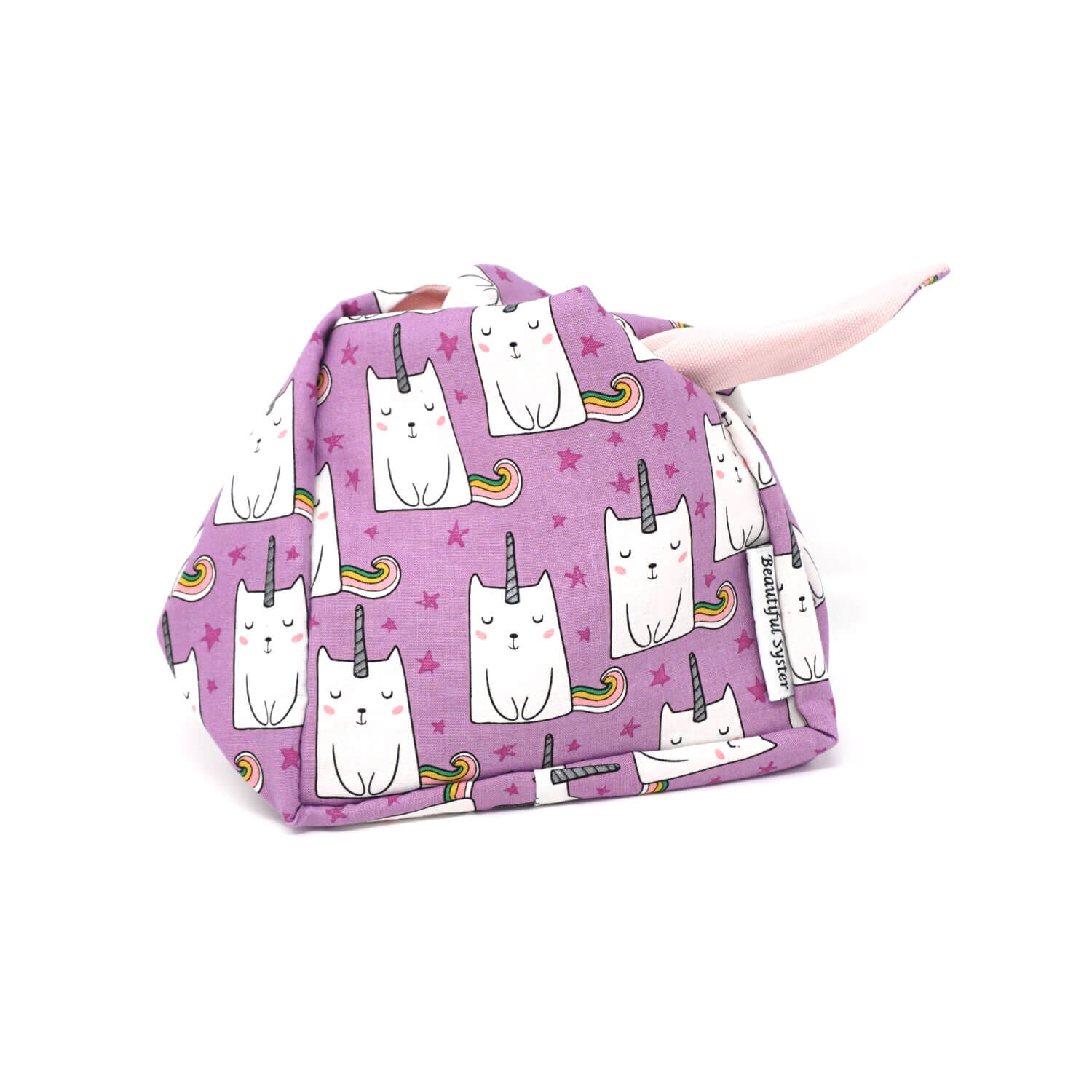 Heather Project Bag - Unikitty shown open | Yarn Worx