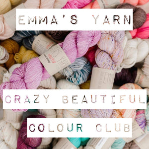 Emma's Yarn Crazy Beautiful Colour Club - subscribe and receive an exclusive colourway each month | Yarn Worx