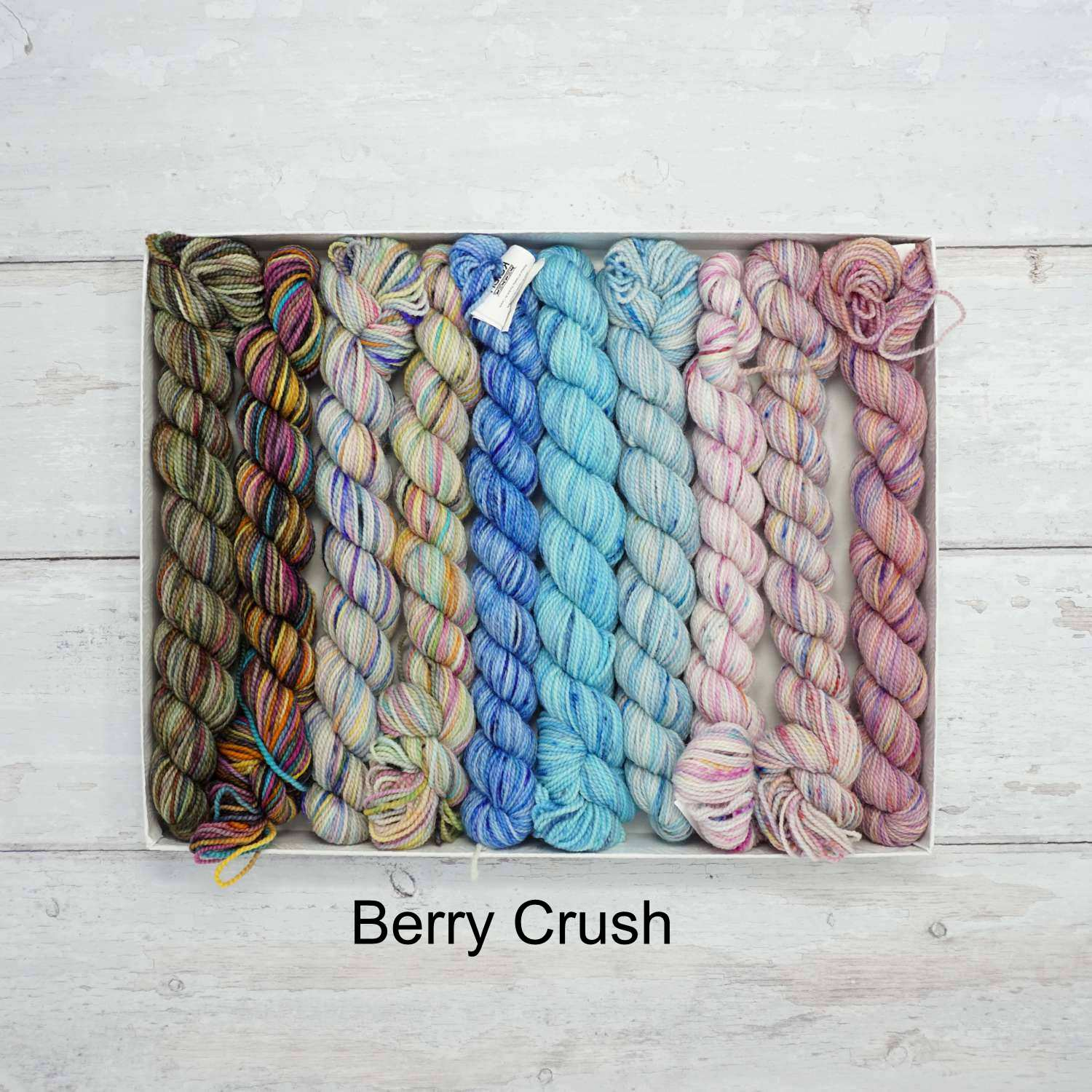 Koigu Wool - KPPPM Pencil Box Collection (10 x 25g Mini Skeins) in Berry Crush | Yarn Worx