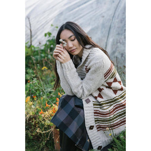 Laine Magazine - Issue 10 Lady wearing long cardigan | Yarn Worx