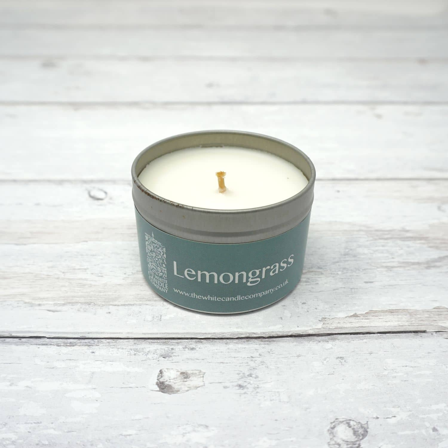 White Candle Company 100g Tin - Lemongrass | Yarn Worx