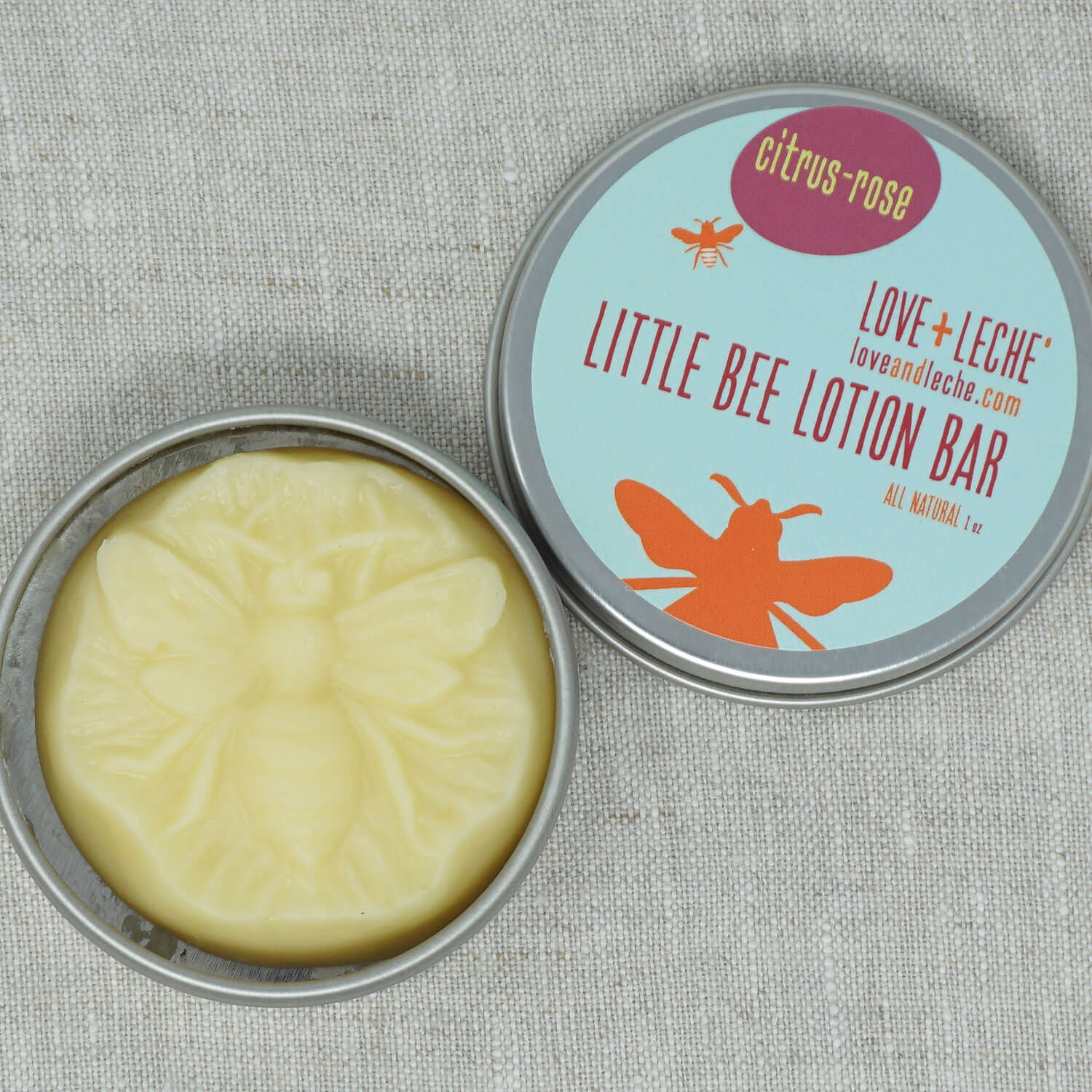 Love + Leche Little Bee Lotion Bar - Citrus & Rose | Yarn Worx
