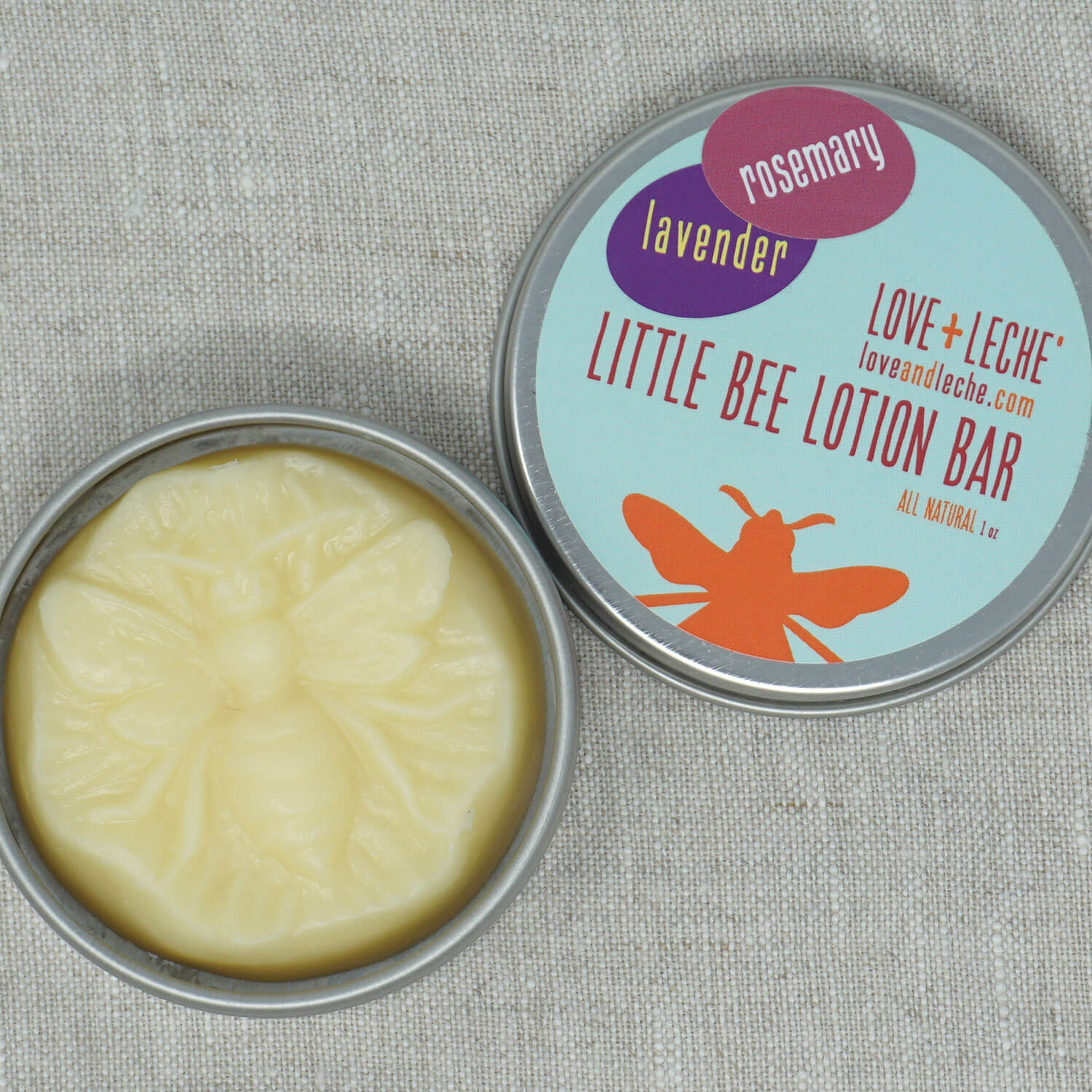 Love + Leche Little Bee Lotion Bar - Lavender & Rosemary | Yarn Worx