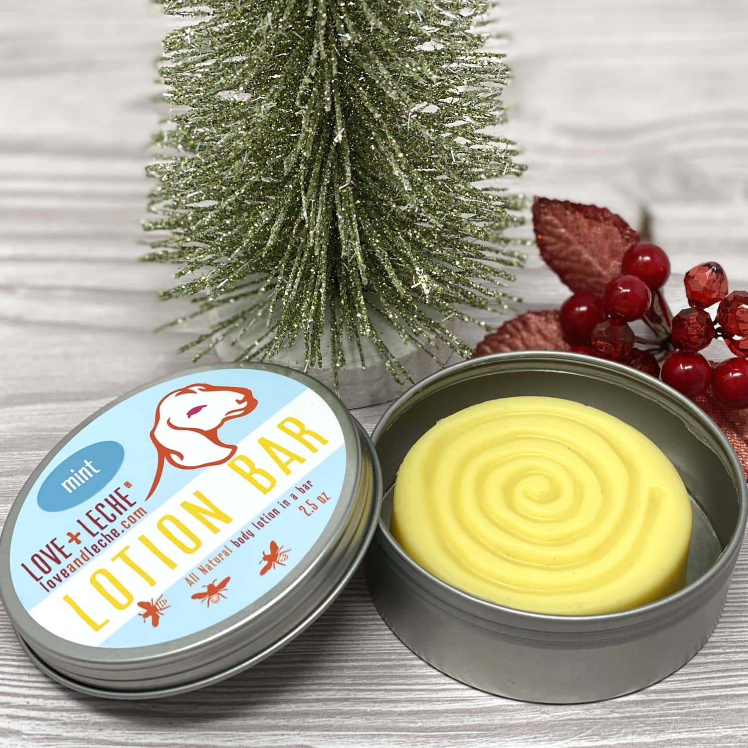 Love + Leche Special Edition Christmas Lotion Bar - Mint | Yarn Worx