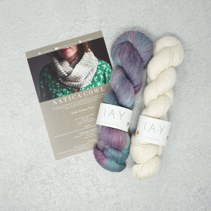 Irish Artisan Yarn - Natica Cowl Kit- 2 x 100g 4ply & Pattern Portnoo and Ecru | Yarn Worx