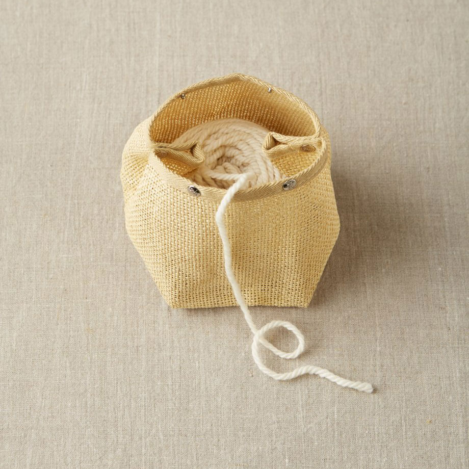 Cocoknits - Natural Mesh Bag showing yarn inside | Yarn Worx