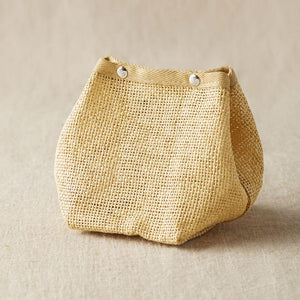 Cocoknits - Natural Mesh Bag shown fastened closed | Yarn Worx