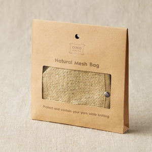 Cocoknits - Natural Mesh Bag shown in its original packaging | Yarn Worx