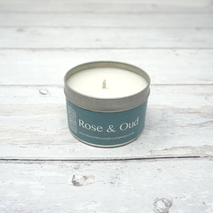 White Candle Company 100g Tin - Rose & Oud | Yarn Worx