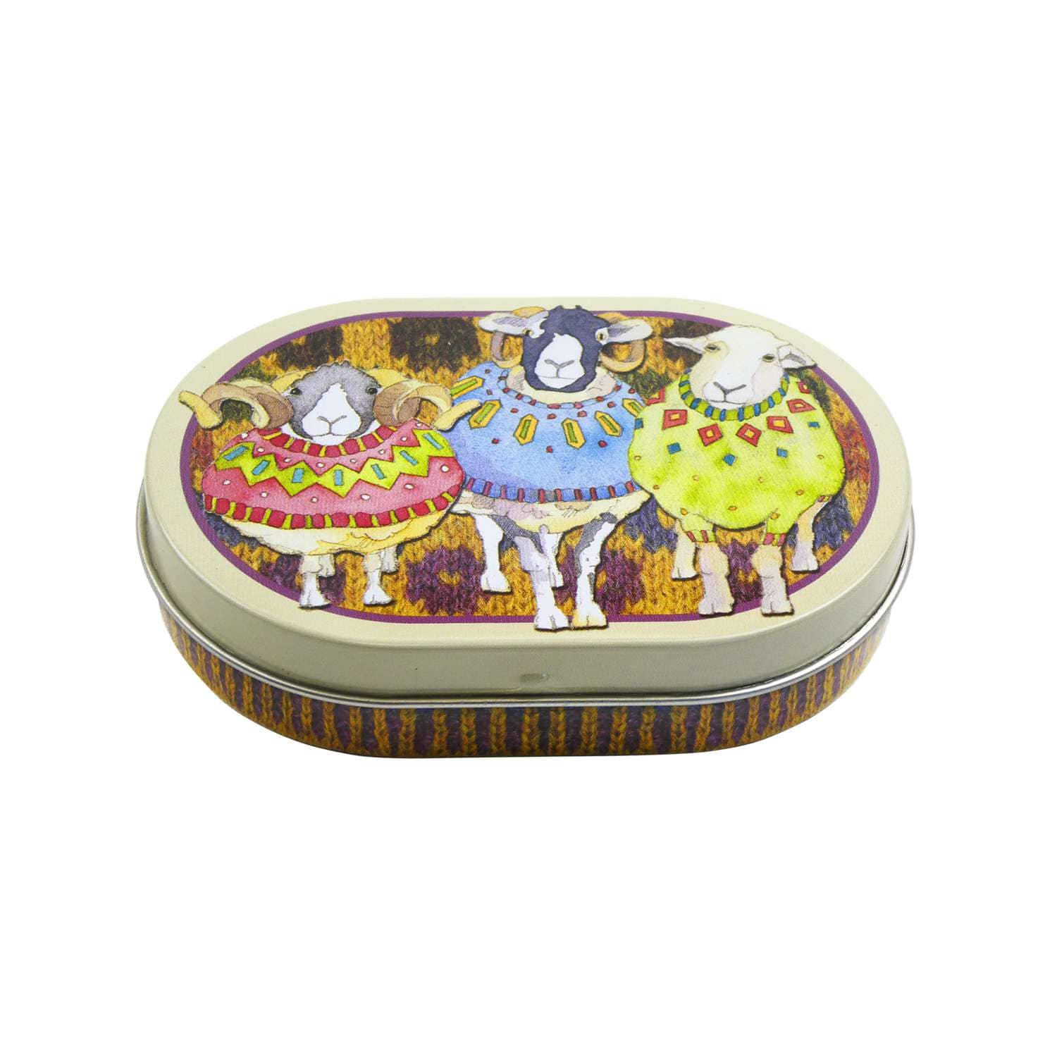 Emma Ball - Sheep in Sweaters Mini Hinged Oval Tin | Yarn Worx