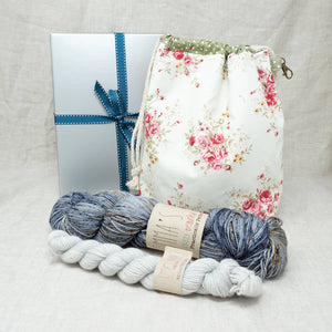 Sock Knitters Delight Gift 2 (Project Bag, Emma's Yarn Sock 1 x 100g & 1 x 20g) | It's Casual with Jackie O | Yarn Worx