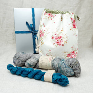 Sock Knitters Delight Gift 2 (Project Bag, Emma's Yarn Sock 1 x 100g & 1 x 20g) | Stolen Dances with Tealicious | Yarn Worx