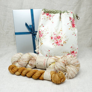 Sock Knitters Delight Gift 2 (Project Bag, Emma's Yarn Sock 1 x 100g & 1 x 20g) | Weathervane with Wish You Were Beer | Yarn Worx