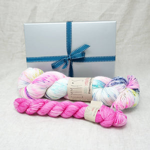 Sock Knitters Delight Gift 1 (Emma's Yarn Sock 1 x 100g & 1 x 20g) | 80's Rewind with Barbie Girl | Yarn Worx