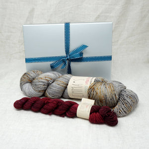 Sock Knitters Delight Gift 1 (Emma's Yarn Sock 1 x 100g & 1 x 20g) | Nailed It with Cherry Merlot | Yarn Worx