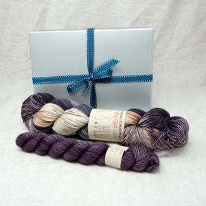 Sock Knitters Delight Gift 1 (Emma's Yarn Sock 1 x 100g & 1 x 20g) | Road Less Travelled with Twilight | Yarn Worx