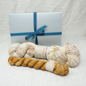 Sock Knitters Delight Gift 1 (Emma's Yarn Sock 1 x 100g & 1 x 20g) | Weathervane with Wish You Were Beer | Yarn Worx