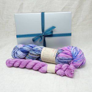 Sock Knitters Delight Gift 1 (Emma's Yarn Sock 1 x 100g & 1 x 20g) | Wing It with Lilac You A Lot | Yarn Worx