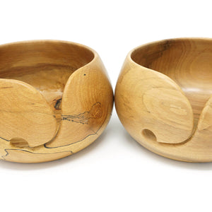 Spalted Beech Wood Yarn Bowl Lifestyle Shot