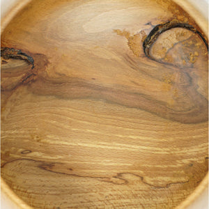 Spalted Beech Wood Yarn Bowl Showing Knots