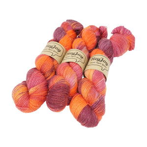 HeyJay Yarns - Sparkle Sock Yarn - 100g - Fierce