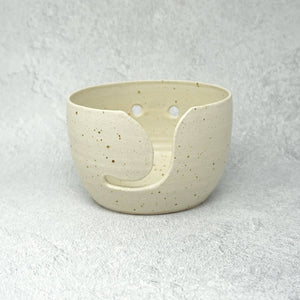 Speckled Ceramic Yarn Bowl - Cream Glaze | Yarn Worx