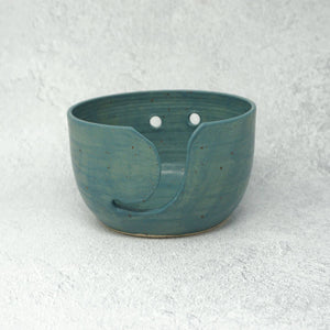 Speckled Ceramic Yarn Bowl - Marine Glaze | Yarn Worx