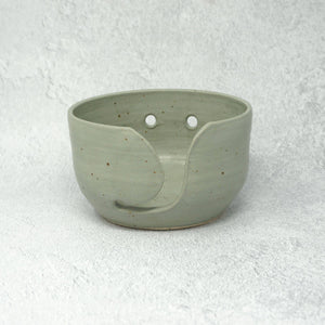 Speckled Ceramic Yarn Bowl - Sage Green Glaze | Yarn Worx