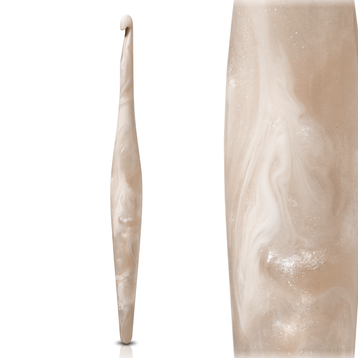 Furls Streamline Swirl Crochet Hook - Cream | Yarn Worx