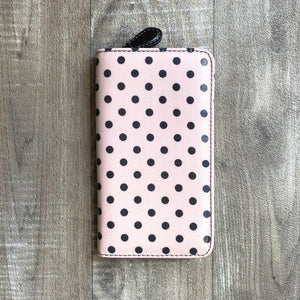 Tulip Sucre Pink & Black Dot Crochet Hook Carry Case | Yarn Worx