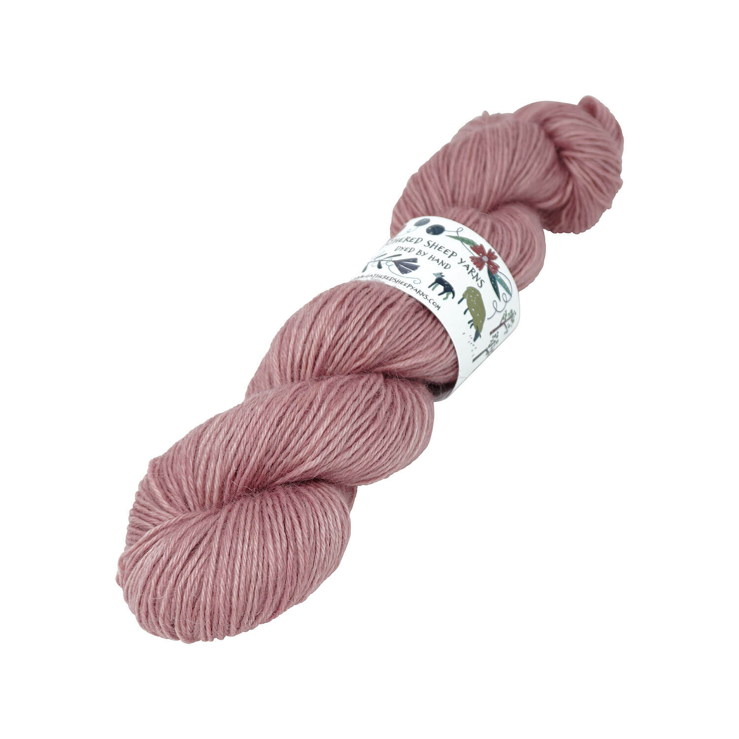 Gathered Sheep Yarns - Wensleydale & Teeswater Light DK - 100g - Ballet Slipper